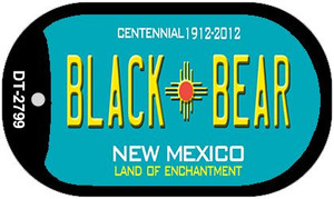 Black Bear Teal New Mexico Wholesale Novelty Metal Dog Tag Necklace DT-2799