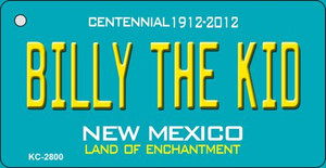 Billy The Kid Teal New Mexico Wholesale Novelty Metal Key Chain KC-2800