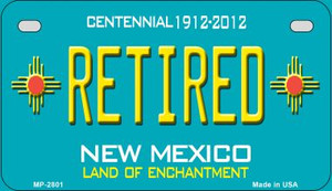 Retired Teal New Mexico Wholesale Novelty Metal Motorcycle Plate MP-2801
