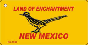 Road Runner Yellow New Mexico Wholesale Novelty Metal Key Chain KC-1940