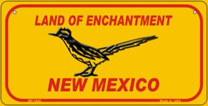 Road Runner Yellow New Mexico Wholesale Novelty Metal Bicycle Plate BP-1940