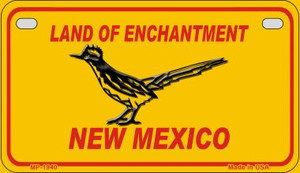 Road Runner Yellow New Mexico Wholesale Novelty Metal Motorcycle Plate MP-1940