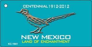 Road Runner Teal New Mexico Wholesale Novelty Metal Key Chain KC-1941