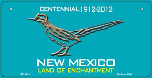 Road Runner Teal New Mexico Wholesale Novelty Metal Bicycle Plate BP-1941