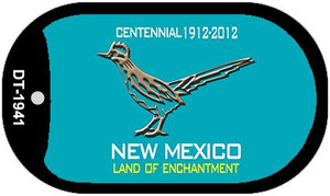 Road Runner Teal New Mexico Wholesale Novelty Metal Dog Tag Necklace DT-1941