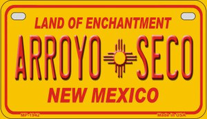 Arroyo Seco Yellow New Mexico Wholesale Novelty Metal Motorcycle Plate MP-1942