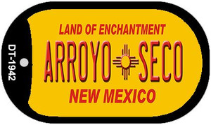 Arroyo Seco Yellow New Mexico Wholesale Novelty Metal Dog Tag Necklace DT-1942