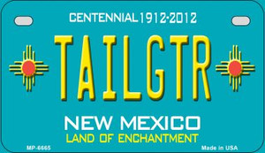 Tailgtr Teal New Mexico Wholesale Novelty Metal Motorcycle Plate MP-6665