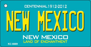 New Mexico Teal New Mexico Wholesale Novelty Metal Key Chain KC-6669
