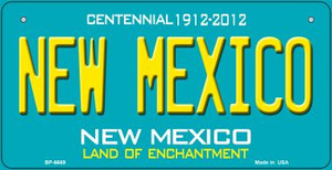 New Mexico Teal New Mexico Wholesale Novelty Metal Bicycle Plate BP-6669