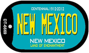 New Mexico Teal New Mexico Wholesale Novelty Metal Dog Tag Necklace DT-6669