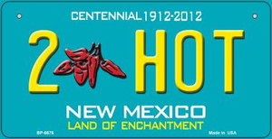 2 Hot Teal New Mexico Wholesale Novelty Metal Bicycle Plate BP-6676