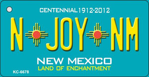 N Joy NM Teal New Mexico Wholesale Novelty Metal Key Chain KC-6678