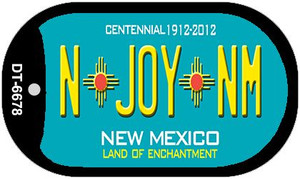 N Joy NM Teal New Mexico Wholesale Novelty Metal Dog Tag Necklace DT-6678