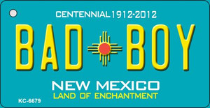 Bad Boy Teal New Mexico Wholesale Novelty Metal Key Chain KC-6679