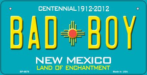 Bad Boy Teal New Mexico Wholesale Novelty Metal Bicycle Plate BP-6679