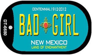 Bad Girl Teal New Mexico Wholesale Novelty Metal Dog Tag Necklace DT-6680