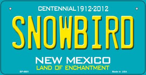 Snowbird Teal New Mexico Wholesale Novelty Metal Bicycle Plate BP-6681