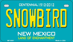 Snowbird Teal New Mexico Wholesale Novelty Metal Motorcycle Plate MP-6681