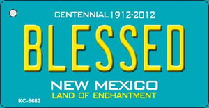 Blessed Teal New Mexico Wholesale Novelty Metal Key Chain KC-6682