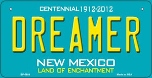 Dreamer Teal New Mexico Wholesale Novelty Metal Bicycle Plate BP-6684