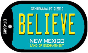 Believe Teal New Mexico Wholesale Novelty Metal Dog Tag Necklace DT-6685