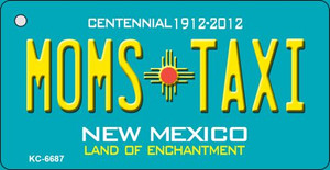 Moms Taxi Teal New Mexico Wholesale Novelty Metal Key Chain KC-6687