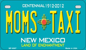 Moms Taxi Teal New Mexico Wholesale Novelty Metal Motorcycle Plate MP-6687