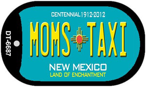 Moms Taxi Teal New Mexico Wholesale Novelty Metal Dog Tag Necklace DT-6687