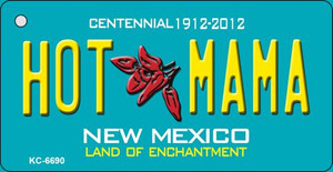 Hot Mama Teal New Mexico Wholesale Novelty Metal Key Chain KC-6690