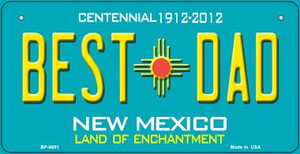 Best Dad Teal New Mexico Wholesale Novelty Metal Bicycle Plate BP-6691