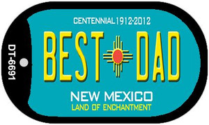 Best Dad Teal New Mexico Wholesale Novelty Metal Dog Tag Necklace DT-6691