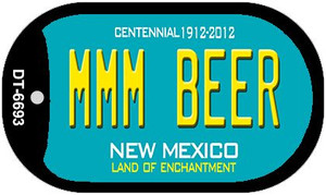 MMM Beer Teal New Mexico Wholesale Novelty Metal Dog Tag Necklace DT-6693