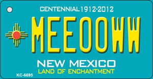 Meeooww Teal New Mexico Wholesale Novelty Metal Key Chain KC-6695