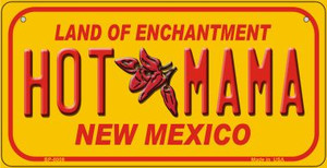 Hot Mama Yellow New Mexico Wholesale Novelty Metal Bicycle Plate BP-8009