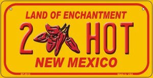 2 Hot Yellow New Mexico Wholesale Novelty Metal Bicycle Plate BP-8010