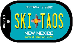 Ski Taos Teal New Mexico Wholesale Novelty Metal Dog Tag Necklace DT-8290