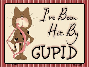 Cupid Kitty Wholesale Metal Novelty Parking Sign P-2098