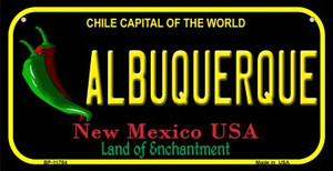 Albuquerque Black New Mexico Wholesale Novelty Metal Bicycle Plate BP-11754