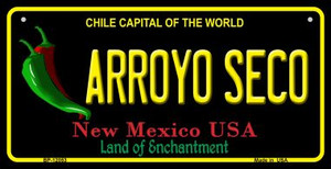 Arroyo Seco Black New Mexico Wholesale Novelty Metal Bicycle Plate BP-12053