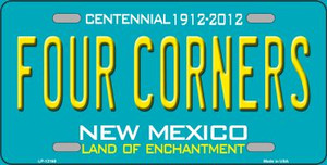 Four Corners Teal New Mexico Wholesale Novelty Metal License Plate LP-12160