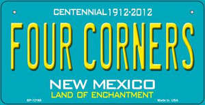 Four Corners Teal New Mexico Wholesale Novelty Metal Bicycle Plate BP-12160