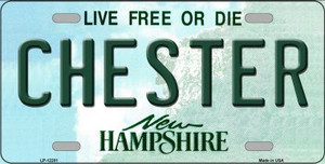 Chester New Hampshire Wholesale Novelty Metal License Plate LP-12201