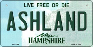 Ashland New Hampshire Wholesale Novelty Metal Bicycle Plate BP-12199