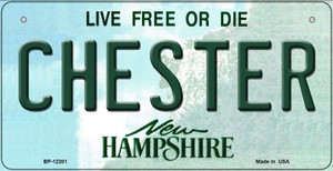 Chester New Hampshire Wholesale Novelty Metal Bicycle Plate BP-12201