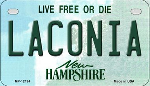 Laconia New Hampshire Wholesale Novelty Metal Motorcycle Plate MP-12194