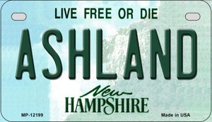 Ashland New Hampshire Wholesale Novelty Metal Motorcycle Plate MP-12199