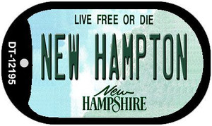 New Hampton New Hampshire Wholesale Novelty Metal Dog Tag Necklace DT-12195