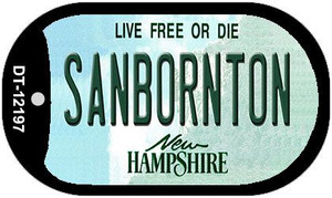 Sanbornton New Hampshire Wholesale Novelty Metal Dog Tag Necklace DT-12197