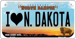 I Love N Dakota Wholesale Novelty Metal Bicycle Plate BP-10701